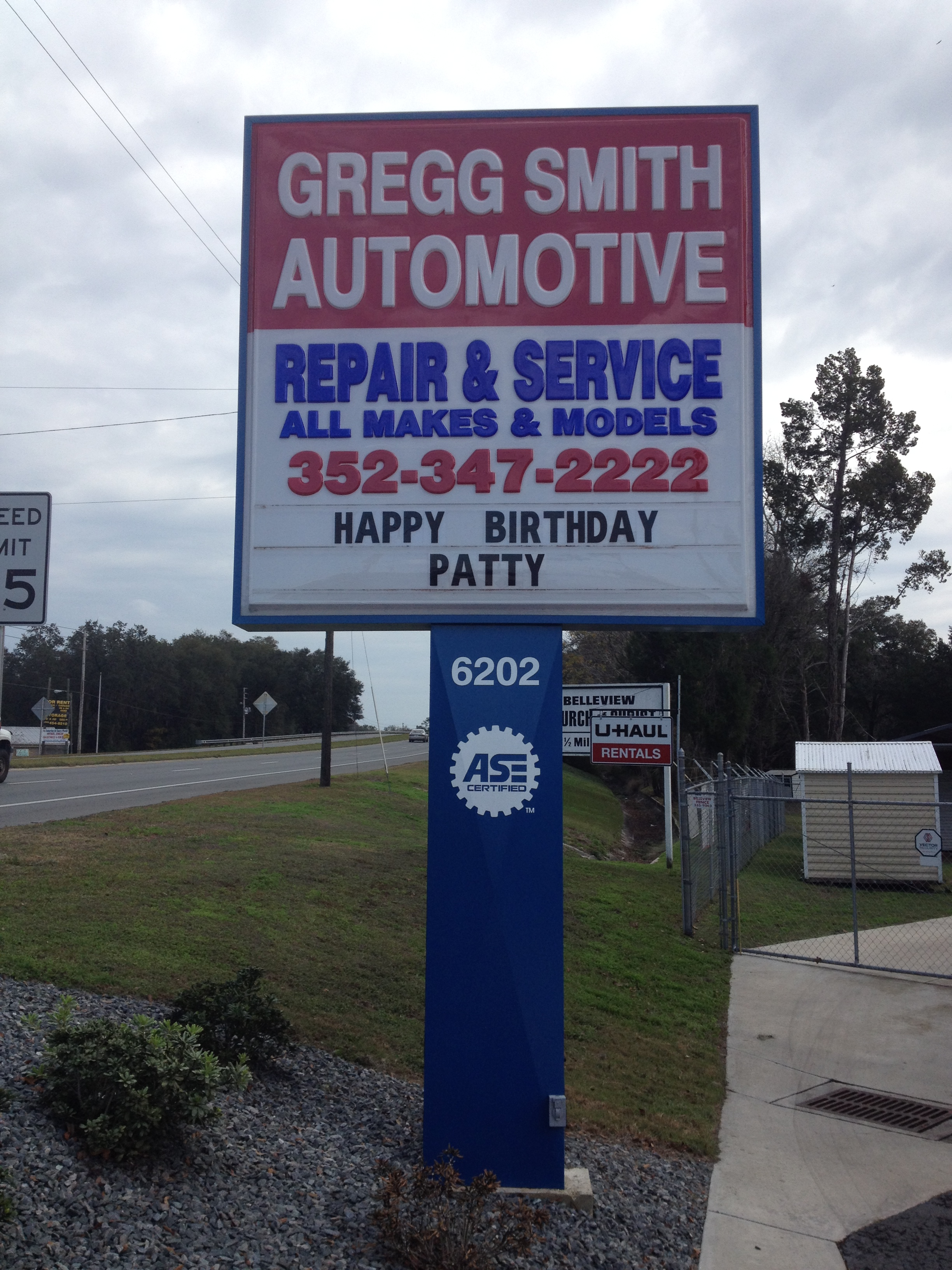 happy birthday sign gregg smith automotive automotive repair