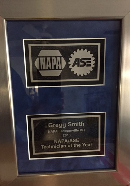 Napa Technician of the year